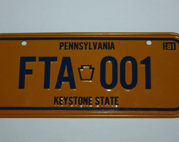 1981 Pennsylvania Keystone State Wheaties Post Cereal Premium Bike Mini Metal License Plate