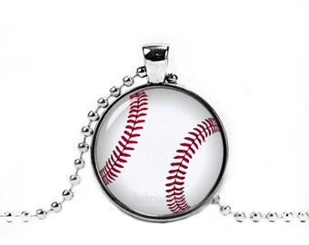 Baseball Necklace Baseball Pendant Baseball Jewelry Sport Necklace