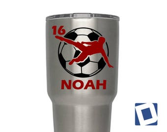 Soccer Decal | Custom YETI Soccer Decal | Custom YETI Soccer Decal | Custom Soccer Decals | Custom Soccer Decal for YETI or Car Soccer Decal