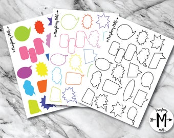 Speech Bubbles for Planners (3 Options!)