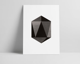 Geometry print, Scandinavian wall art, Nordic poster printables, Minimalistic wall art, Polygon art, Instant download, Geometry Polygon Art