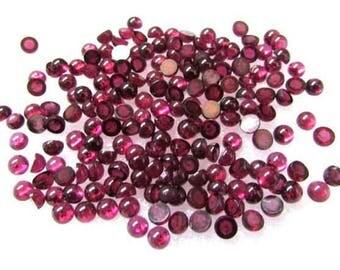 50 Pieces 3mm RHODOLITE Garnet Cabochon Round Gemstone, 3mm Rhodolite Garnet Round Cabochon Gemstone, Rhodolite Garnet Cabochon Round
