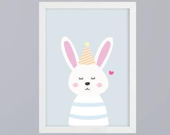 Rabbit hop - unframed art print