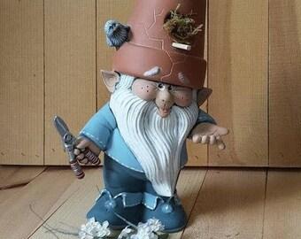 Summer Birdhouse Garden Gnome