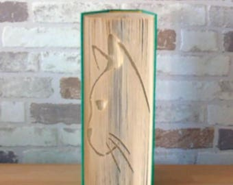 folded book - cat silhouette / / Visual Arts / / Bookfolding / / gift / / cat lovers / / decoration / / cat friend