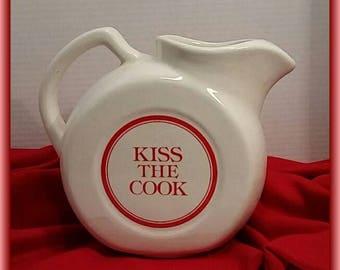 """Waechtersbach Ice Lip Pitcher  """"Kiss The Cook."""""""