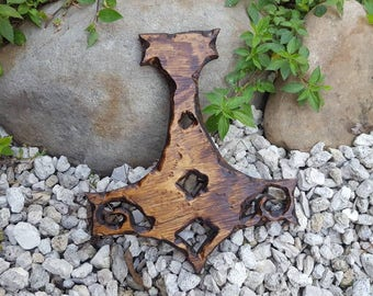 Hand-Carved * Thor's Hammer