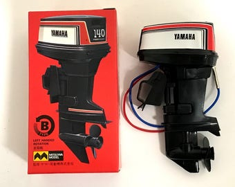 MITSUWA YAMAHA 140 Hight Power Toy Outboard motor Type B Left Handed Rotation Made in Japan Rare Free shipping Vintage