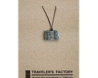 Traveler's Factory TF Charm Trunk pattern 07100140 Traveler's Notebook  Midori Designphil Material Tin Free Shipping