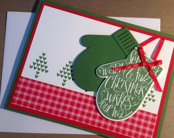 Sending Warm & Fuzzy Christmas Wishes Your Way - Handmade - Stampin' Up - Christmas Card
