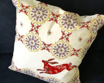Hare Chair Cushion - Decorative Pillow or multicolored original design - we call it Moondance