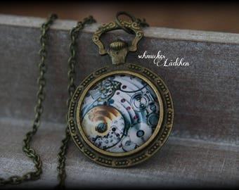 """Antique Bronze """"steampunk"""" necklace"""