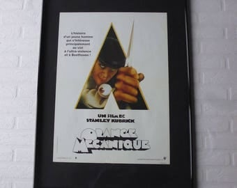 1971 Kubrick Orange Mécanique original movie poster