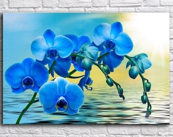 Flower wall art, Canvas Art, Print on Canvas, Orchid on canvas ,  Interior Art, Living Room Decor, Large Wall Art , Extra Large Canvas Art