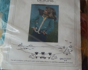 Sweater Kit childs size 4-8 cotton & wool from North Islands Designs