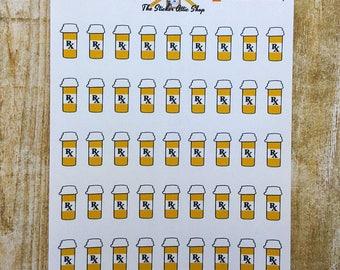 Medicine Planner Stickers / Prescription Planner Stickers / Medication Stickers / Pill Reminder Stickers  / Pill Bottle Stickers