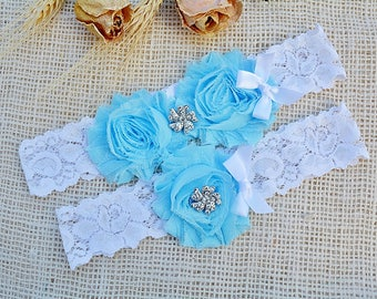 Wedding Garter Blue, Garter Set, Blue Bridal Clothing, Somethig Blue, Garter Light Blue, Garter For Brides, Lace Garter Blue, Keep Garter