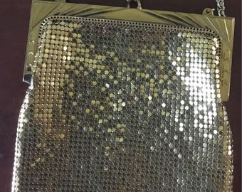 Stunning Whiting and Davis Gold Mesh Purse
