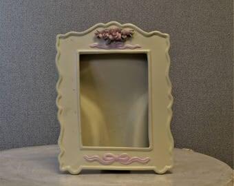 3x4 Ceramic Frame with Roses Photo Frame
