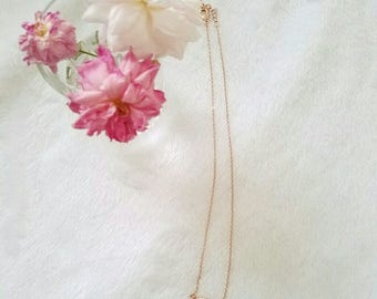 Crystal Rose Gold Necklace