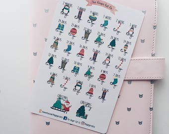 Christmas Countdown Planner Stickers