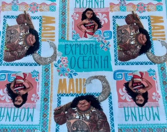 Moana Fabric Remnant Oceania Fabric Cartoon Fabric Movie Fabric Kids Fabric Fabric Curtain Fabric  Cotton Fabric Hawaiian Fabric
