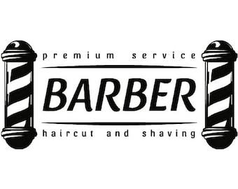 Barber Logo #6 Salon Shop Haircut Hair Cut Groom Grooming ...