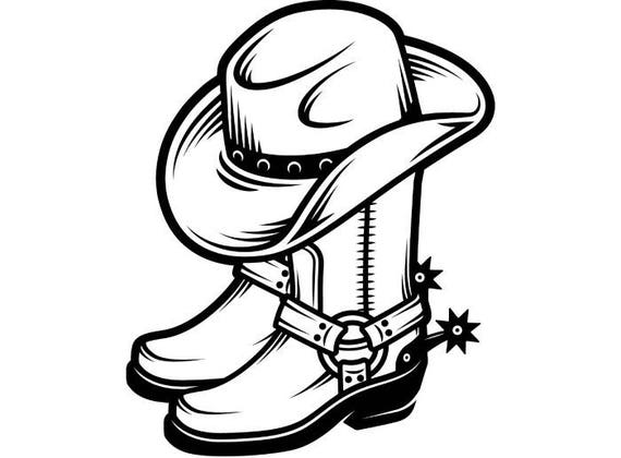 Cowboy Logo 4 Boots Leather Shoe Footwear Hat Spur Country