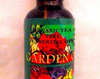 Organic Tea Tree Essential Oil, Australian Melaleuca alternifolia Uncut, Steam Distill Tea Tree Essential Oil from Leaves, for Acne & Fungal