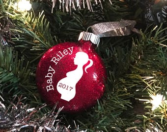 2017 christmas ornaments - Bumps first christmas ornament - Pregnant mom gift - Pregnancy announcement ornament - Pregnancy gift - 2017 bump