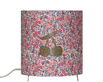 Child lamp - Liberty wiltshire pea scent - Thermo bonded cherries