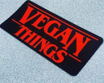 VEGAN THINGS MAGNET - Stranger Things style fridge decal - fan art vegan gift