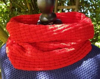 Scottish snood, collar, neck scarf in vibrant colours!