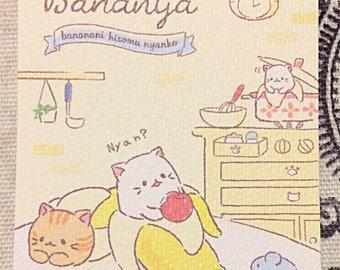 Q-Lia Bananya mini memo pad
