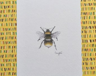 Cairybee bumblebee print, wall art, insect art, love bees