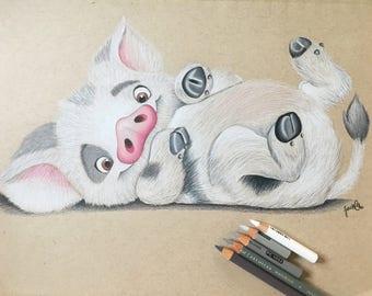 Pua Print from Disney Moana