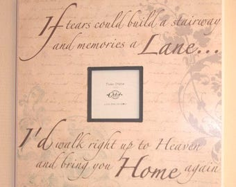 Photo Frame If Tears Could Build A Stairway  Photo Frame Picture Frame Ex Large  SG1866