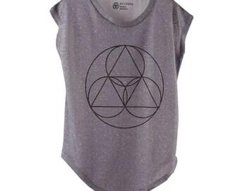 BiggYoga Namaste Grey T-Shirt - Size - S