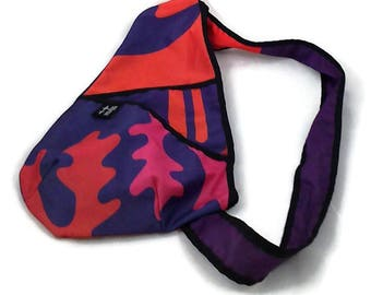 Back small purple, pink, red bag