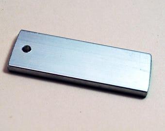 "Ten Thick Brushed Aluminum Bar Blanks - 3/4"" x 2"" - 8g Aluminum Keychain Bar Blanks"