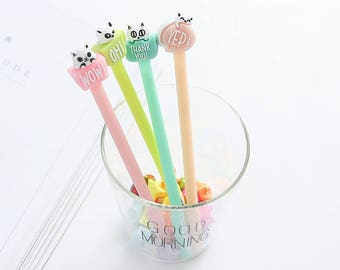 Cute Cats Pens - Gel Pen, Ink Pen, Stationery