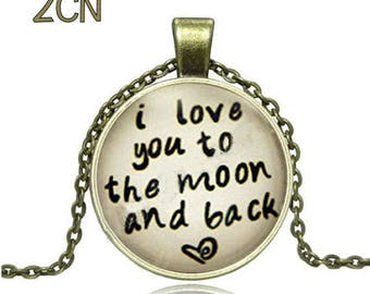 Family and I Love You To The Moon Cabochons