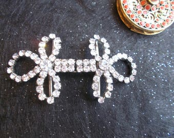garment in both steel and white condition rhinestone jewelry excellent vintage couture