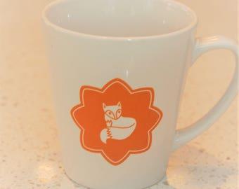 Daniel Fox latte mug in ochre, children's mug, coffee mug, scandi lifestyle