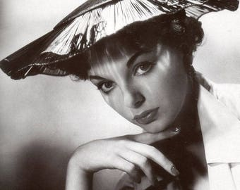 Joan Collins Film Actress Glossy Hollywood Black & White Photo Picture Print A4