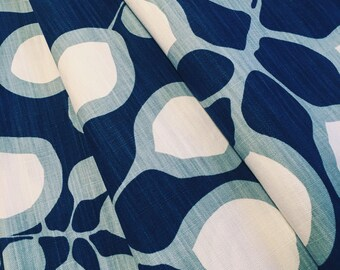 Blue Drapes- Scandinavian Curtains- Large pattern- Modern Drapes- Window Drapes- Curtain panels- Scandinavian drapes- Made to measure drapes