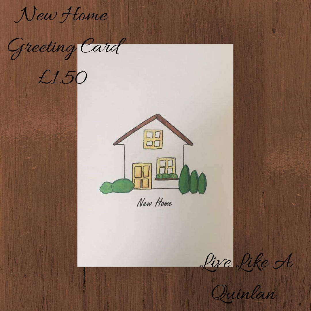 New home card handmade hand made greeting cards new house card new home card handmade hand made greeting cards new house card kristyandbryce Image collections