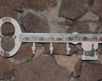 Wooden key coat rack
