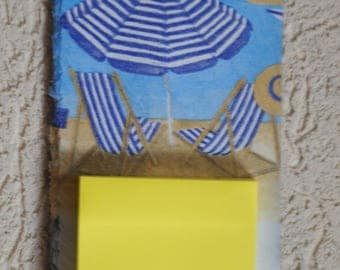 memo slate decorated theme: on the beach
