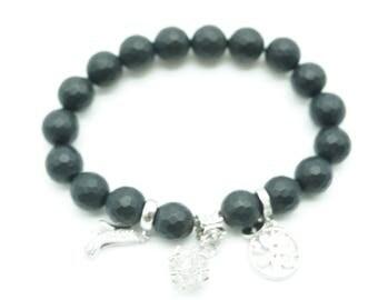 Bead Charmed bracelet Silver